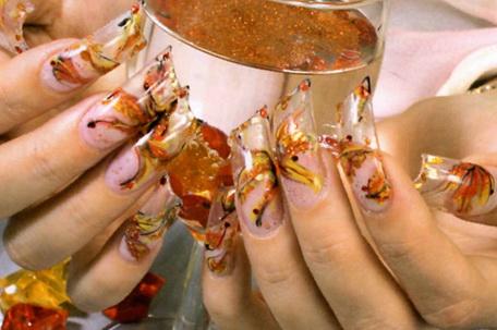 Как сделать ногти аквариумы