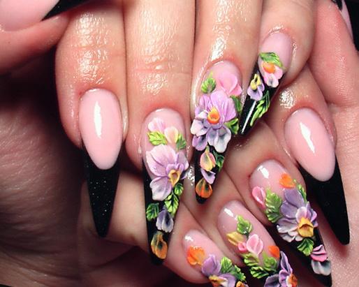 Дизайн гелевых ногтей аквариумный