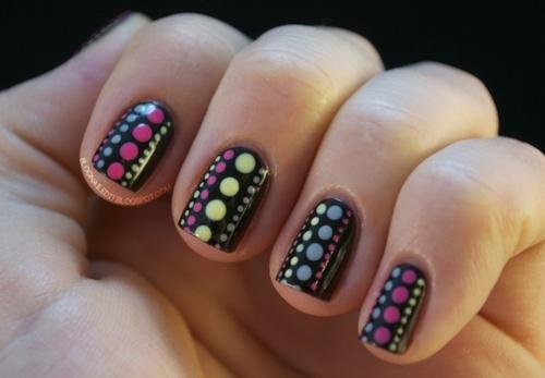 Дизайн коротких ногтей 731