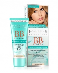 матирующий BB Cream крем 8 в 1 Eveline Cosmetics