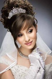 Свадебные причёски фото с челкой