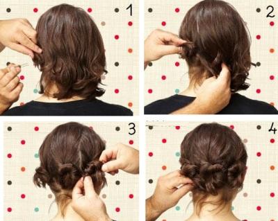 Прическа своими руками на тонкие волосы фото