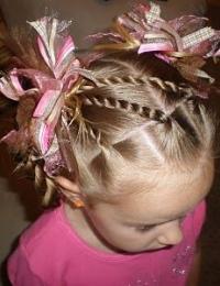 красивые прически для девочек на волосы средней длины