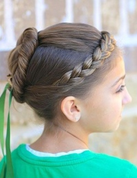 Праздничные прически для длинных волос для девочек