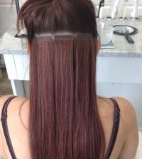 процедура ленточного наращивания волос на дому