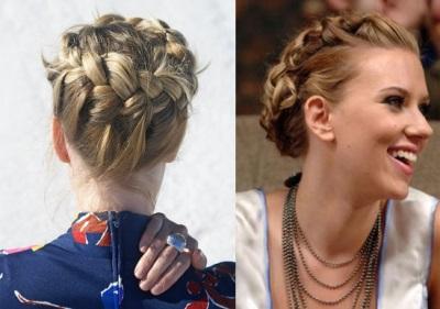 укладки волос коса, уложенная в виде короны
