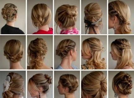 Праздничные прически на средние волосы для женщин 40