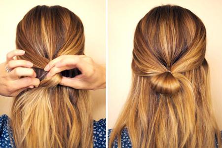 причёска бант из волос фото