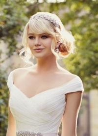 Свадебная прическа на тонкие волосы