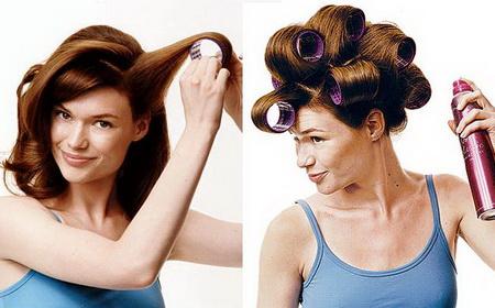 укладка волос в домашних