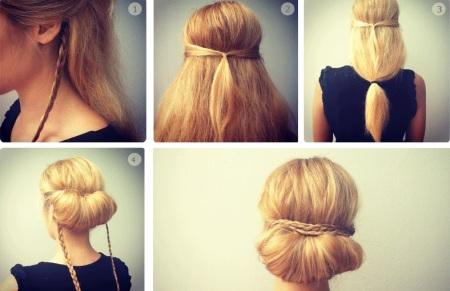 как сделать прически на тонкие средние волосы своими руками