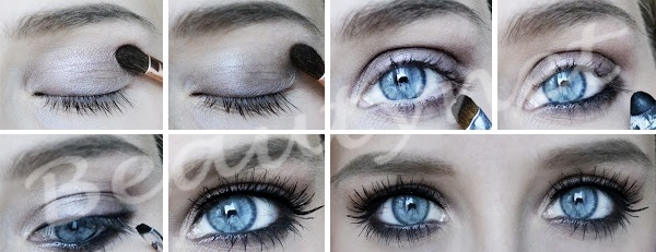 Макияж для голубых глаз и рыжих волос пошагово