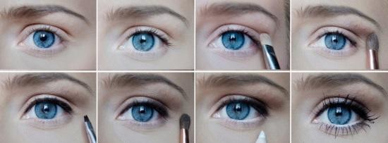 как тенями увеличить глаза фото