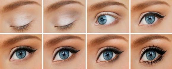 Как сделать макияж что глаза казались большими 799