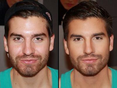 фото мужской макияж