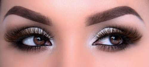 красивый макияж для коричневых глаз
