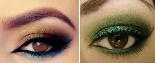 красивый макияж для глаз карего цвета