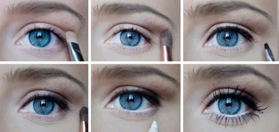 Какой макияж идет к серо голубым глазам