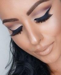 макияж матовыми тенями