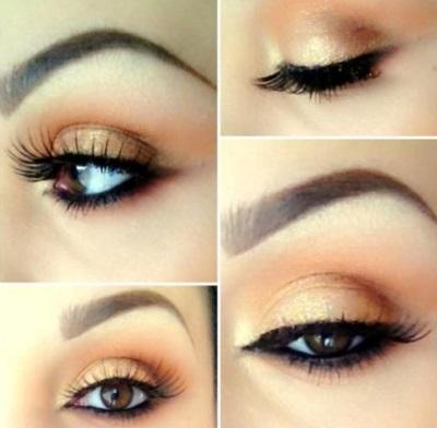 макияж маленькие карие глаза