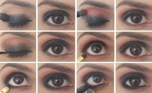 Как макияжем сделать глаза темнее