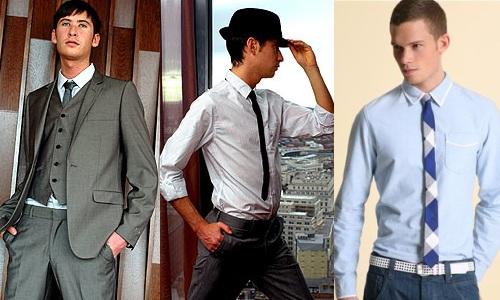 446С чем носят узкий галстук мужчине