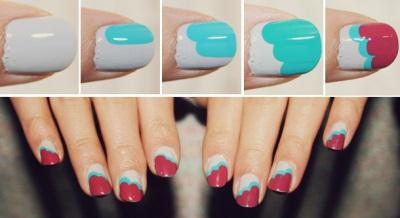 дизайн ногтей в домашних условиях простые рисунки