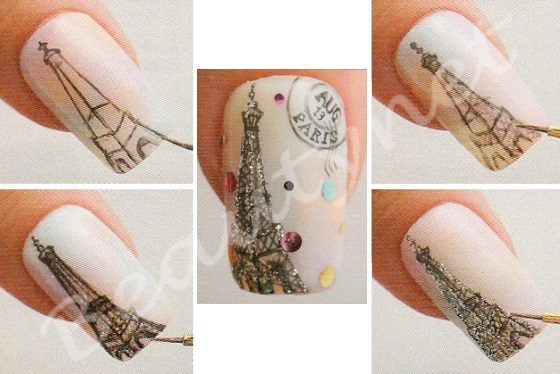 Рисунки на ногтях пошагово акриловыми красками