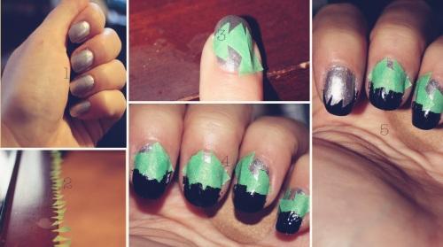 рисунки на ногтях для начинающих трафарет