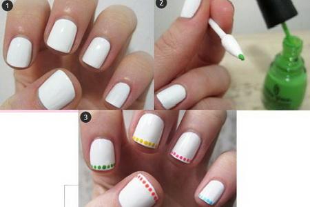 Как сделать ровные точки на ногтях