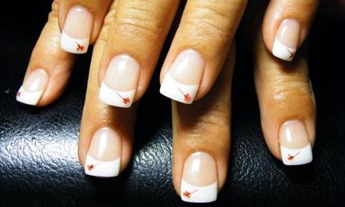 дизайн ногтей с сухоцветами фото: