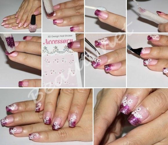 Наклейки для ногтей - маникюр на скорую руку