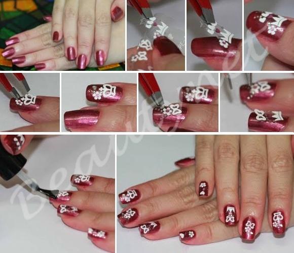 Как правильно наносить на ногти наклейки на