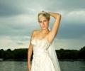 Свадебная мода: платья с металлическими акцентами и подчеркнутой талией