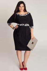 деловое платье баллон для полных женщин