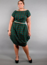 модные платья-баллон для полных женщин