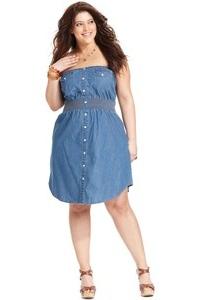 джинсовые платья бюстье для полных женщин