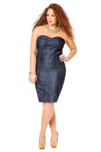 джинсовые платья футляр для полных женщин