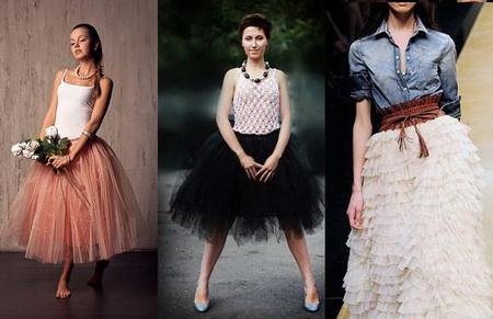 Платье сетчатая юбка