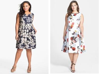 Женщины в платьях с цветочным принтом