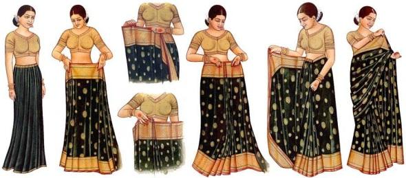 Как одевать сари - YouTube